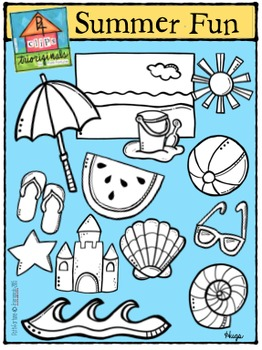 Summer Fun (P4Clips-Trioriginals Digital Clip Art)