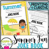 Summer Fun PRINTING AND CURSIVE Practice Joke Book