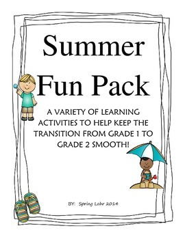Summer Fun Pack - Printables to Transition from Grade 1 to