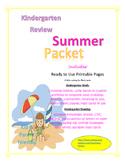 Summer Packet for Study Review Skills Kindergarten  Entering 1st