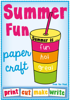 Summer Fun Paper Craft - Print Cut Make Write