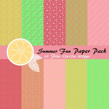 Summer Fun Paper Pack