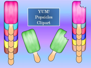 Summer Fun Popsicles & Fudgesicle Clipart