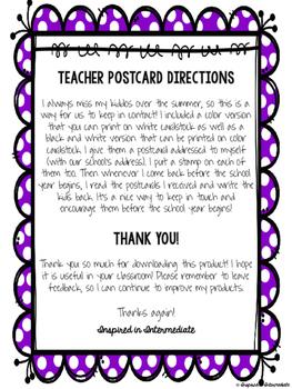 End of the Year Summer Fun Postcard