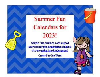 Summer Fun Pre-K to Kindergarten Calendar for 2016!