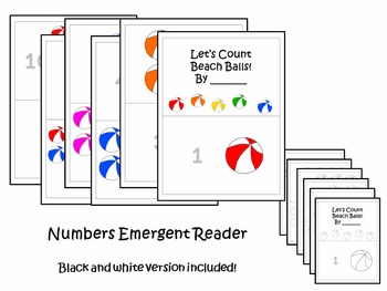 Summer Fun Preschool Colors, Numbers, and Letters Emergent Readers