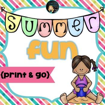 Summer Fun Print and Go Freebie