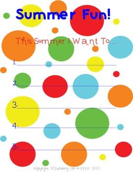 Summer Fun Printable