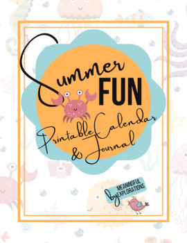 image relating to Fun Printable Calendar identify Summertime Entertaining Printable Calendar and Magazine