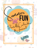 Summer Fun Printable Calendar and Journal