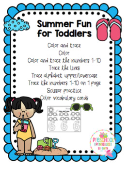 Summer Fun Printable for Toddlers