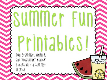 Summer Fun Printables!