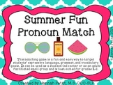 Summer Fun Pronoun Match