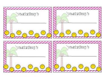 Summer Fun Punch Cards