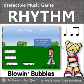 Summer Fun! Quarter Notes & Eighth Notes (Interactive Rhythm Game)