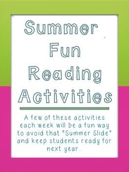 Summer Fun Reading Activities