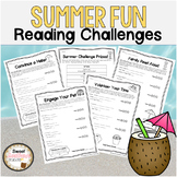 Summer Fun Reading Log Challenges!