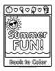 Summer Fun - Rhyming Book to Color