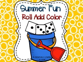 Summer Fun Roll Add Color Freebie
