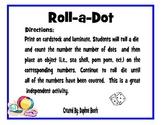 Summer Fun Roll a Dot Game