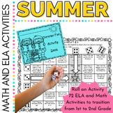 Summer Activities Roll an Activity for First Grade