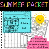 Summer School Summer Packet:  Roll an Activity for First Grade
