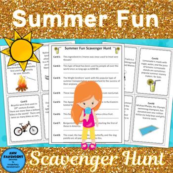 Summer Fun Scavenger Hunt
