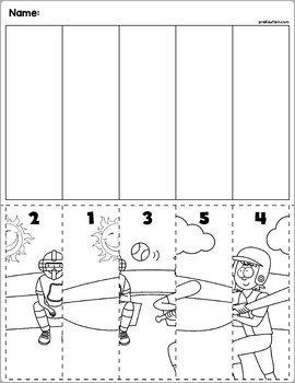 Summer Fun Scenes | Number Sequence Puzzles