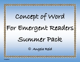 Summer Fun  Sentence Scramble with Cut and Paste Worksheet