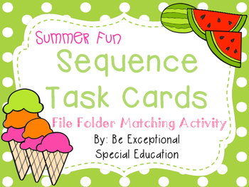 Summer Fun Sequence Task Cards