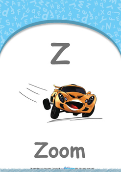 Summer Fun - Shapes : Letter Z : Zoom - Nursery (2 years old)