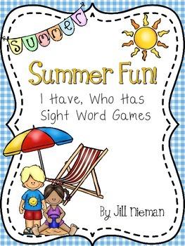 Summer Sight Word Games