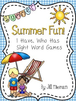 Summer Sight Word Games- Dolch Pre-Primer and Primer