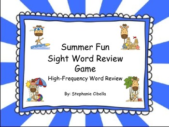 Reading Street Summer Fun Sight Word Review Game High-Frequency Word Review