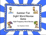 Reading Street Summer Fun Sight Word Review Game High-Freq