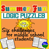 Summer Fun Six Logic Puzzles and Brain Teasers for Middle