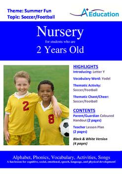 Summer Fun - Soccer/Football : Letter Y : Yodel - Nursery (2 years old)