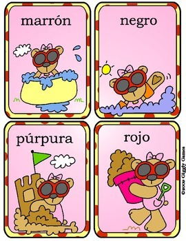 Summer Fun Spanish Color Words Play & Learn Pack