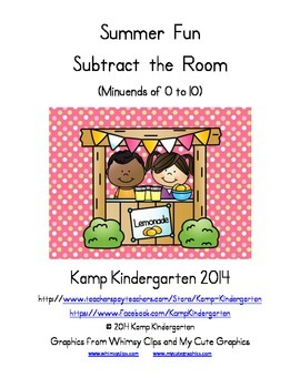 Summer Fun Subtract the Room (Minuends to 10)