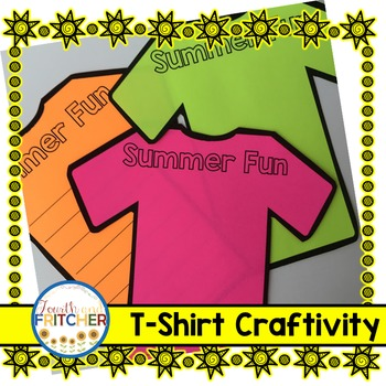 Summer Fun T-Shirt Craftivity {freebie}