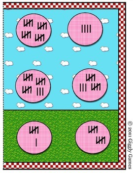 Summer Fun Tally Marks File Folder Game