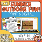 Summer Fun Task Cards: 100 Outdoor Learning Activity Cards