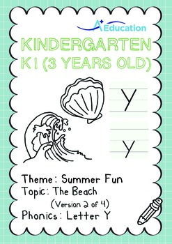 Summer Fun - The Beach (II): Letter Y - K1 (3 years old)