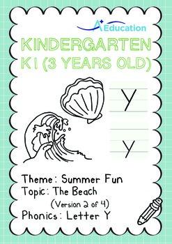 Summer Fun - The Beach (II): Letter Y - K1 (3 years old)