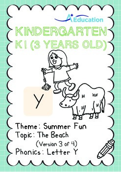 Summer Fun - The Beach (III): Letter Y - K1 (3 years old)