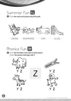 Summer Fun - The Park (I): Letter Z - K1 (3 years old)
