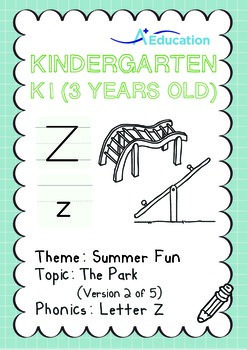 Summer Fun - The Park (II): Letter Z - K1 (3 years old)