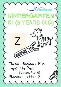 Summer Fun - The Park (III): Letter Z - K1 (3 years old)