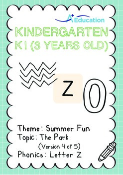 Summer Fun - The Park (IV): Letter Z - K1 (3 years old)