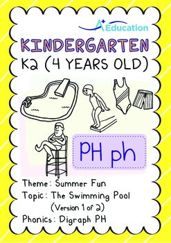 Summer Fun - The Swimming Pool (I): Digraph PH - K2 (4 years old)